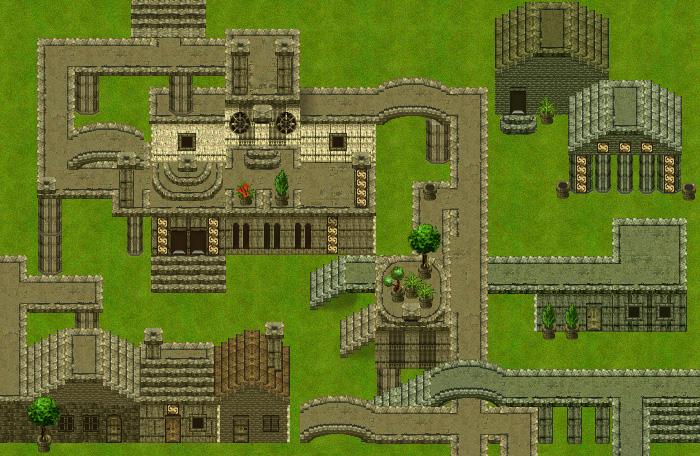 Buildings RPG Top Down Set