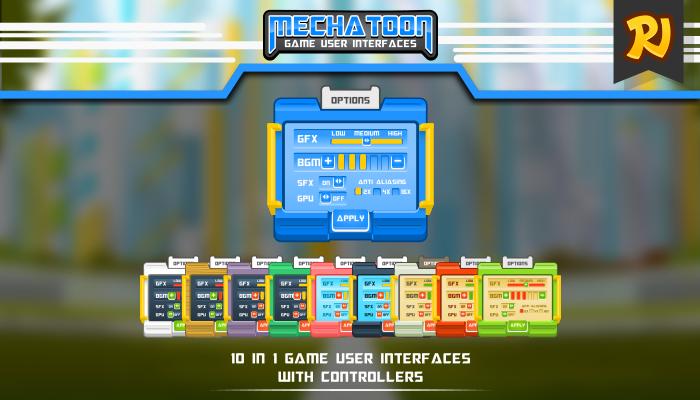 Cartoon Modern Game UI Art Pack