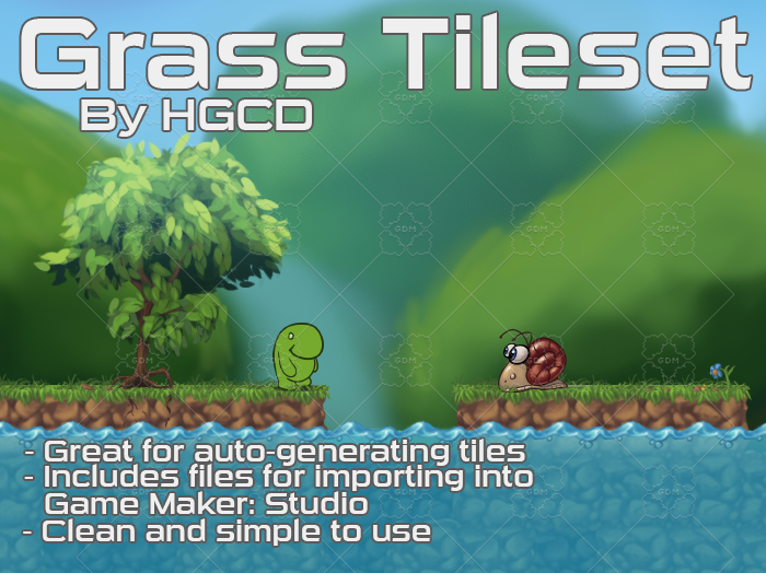 Hand-Painted Grass / Dirt Tileset