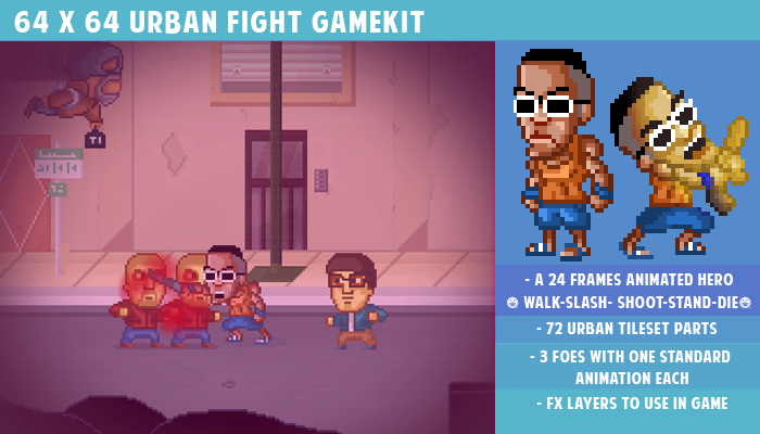 64 x 64 Urban fight gamekit