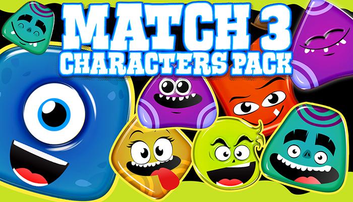Match 3 Characters Set