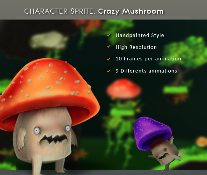 Character Sprite: Crazy Mushroom