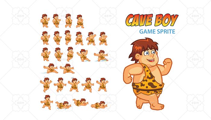 Cave Boy Game Sprite
