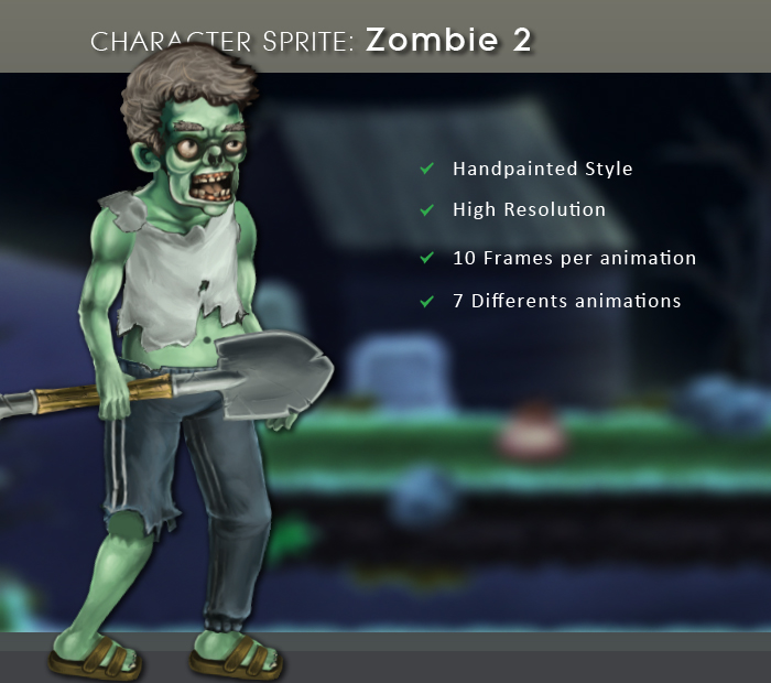 Character Sprite: Zombie 2
