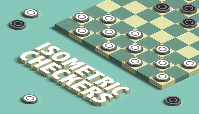 Isometric Checkers Game