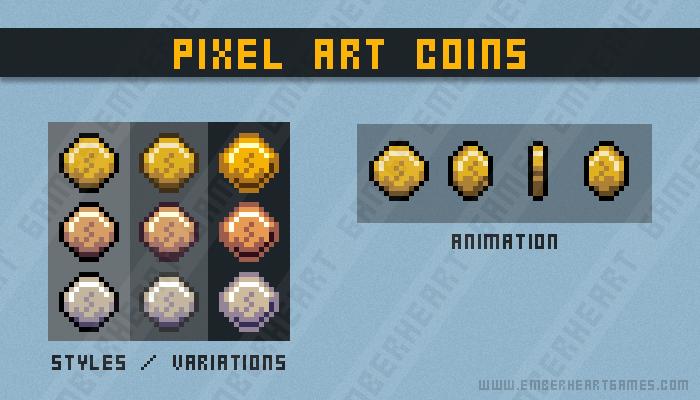 Pixel Art Coins