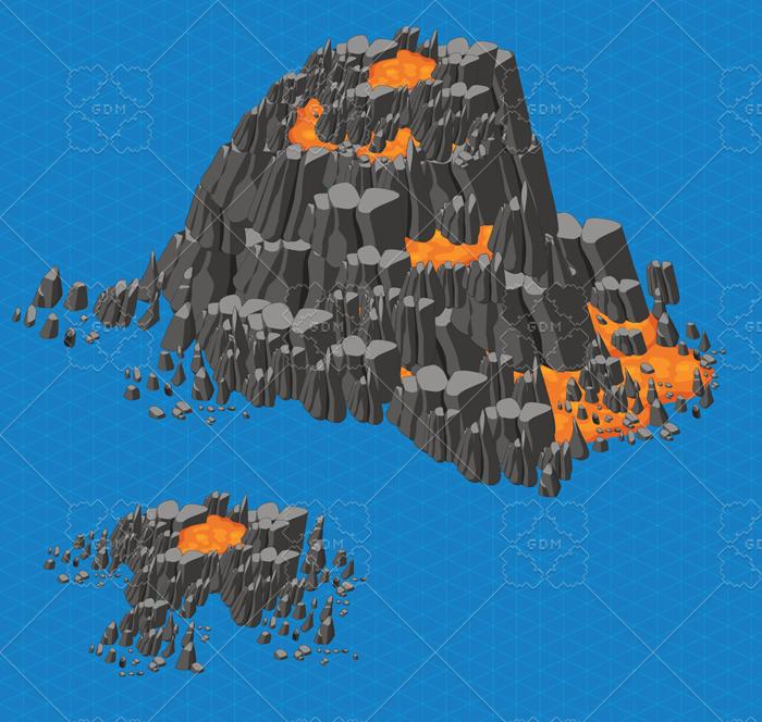 Volcano Isometric Elements