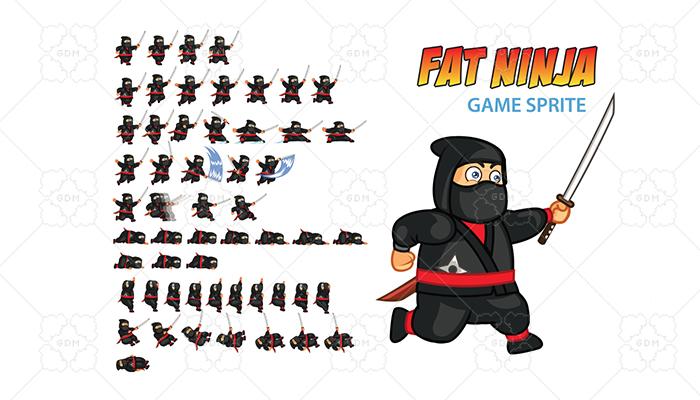 Fat Ninja Game Sprite