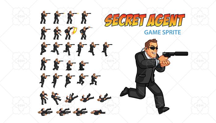 Secret Agent Game Sprite