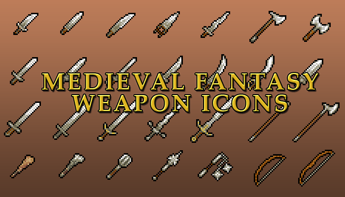 Medieval Fantasy Weapon Icons