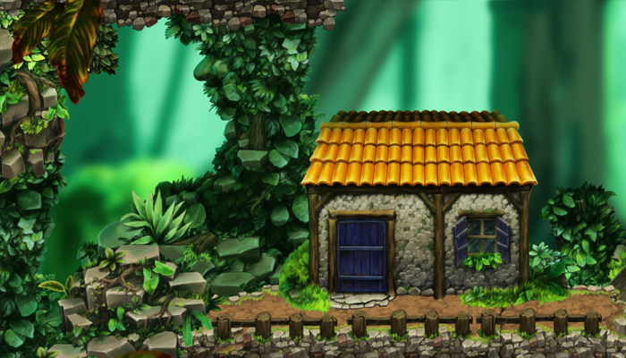 Platform Game Tileset: Village