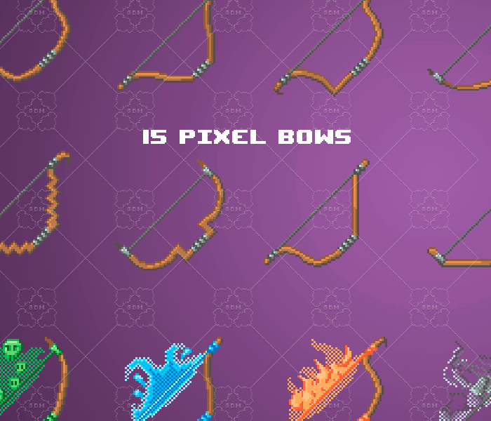 Pixel bows pack 64×64