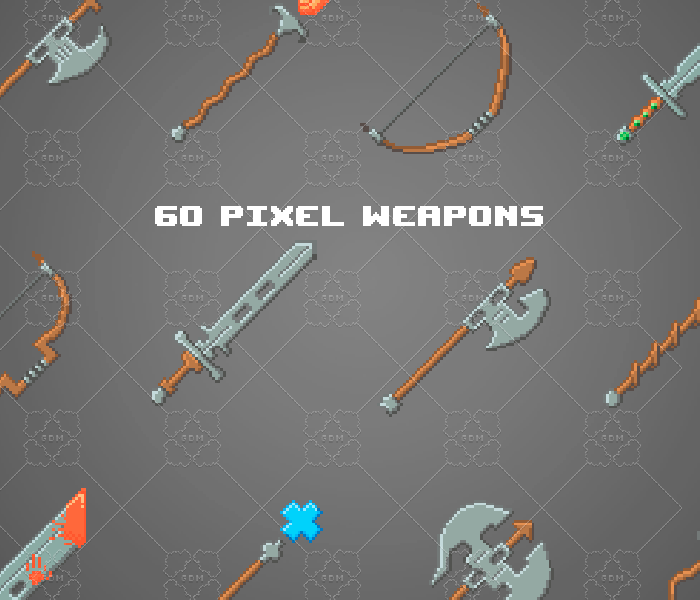 Pixel weapons pack 64×64