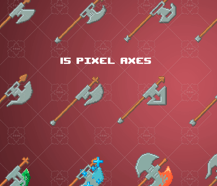 Pixel axes pack 64×64