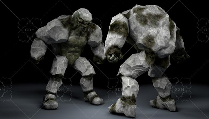 Golem Reptile Character