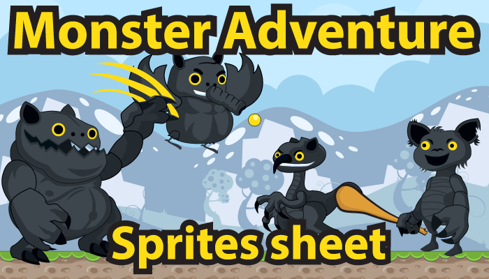 Monster Adventure Sprites Sheet