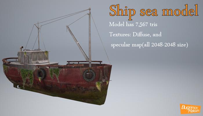 Ship sea model
