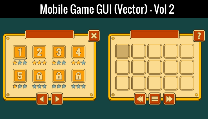Mobile Game GUI Vol 2