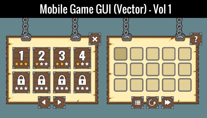 Mobile Game GUI Vol 1