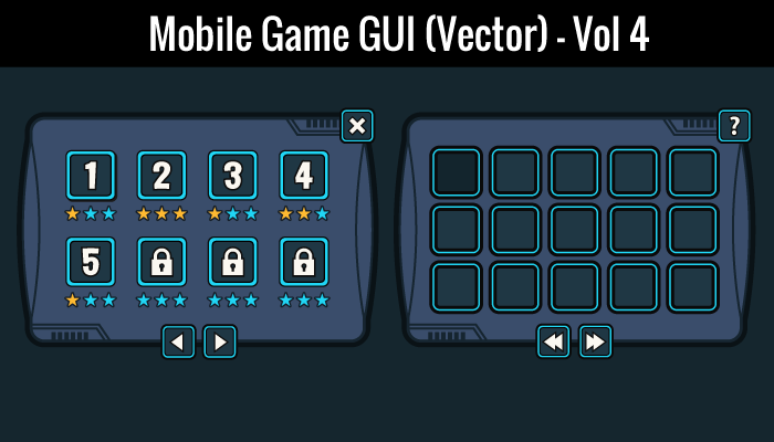Mobile Game GUI Vol 4