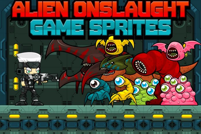 Alien Onslaught – Game Sprites