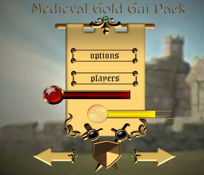 GUI Medieval Gold Pack