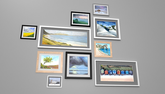Picture Frames And Paintings