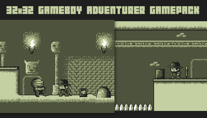 32×32 gameboy adventurer gamepack