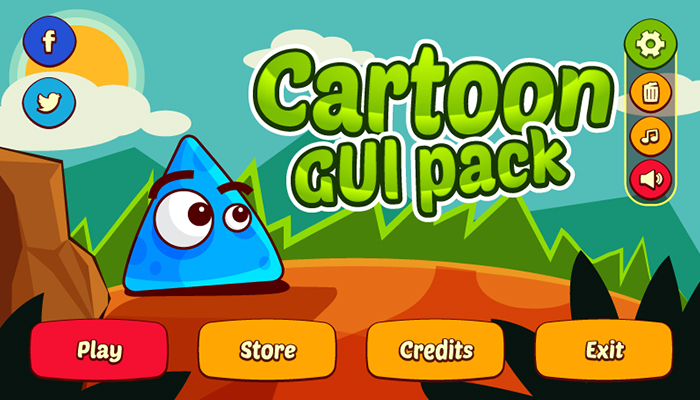 Cartoon GUI Pack