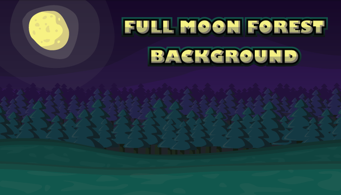 Full Moon Forest Background
