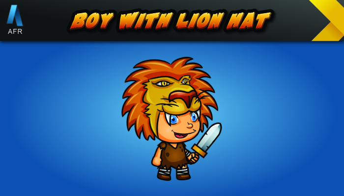 AFR Tiny Character Sprites – Boy with lion hat