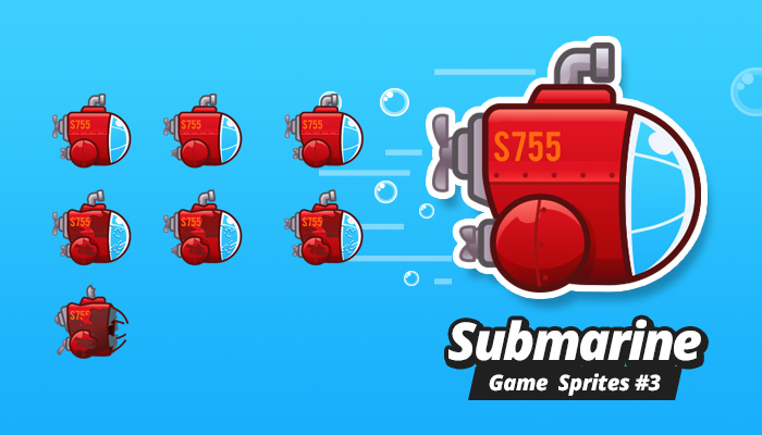 Submarine Game Sprites 3