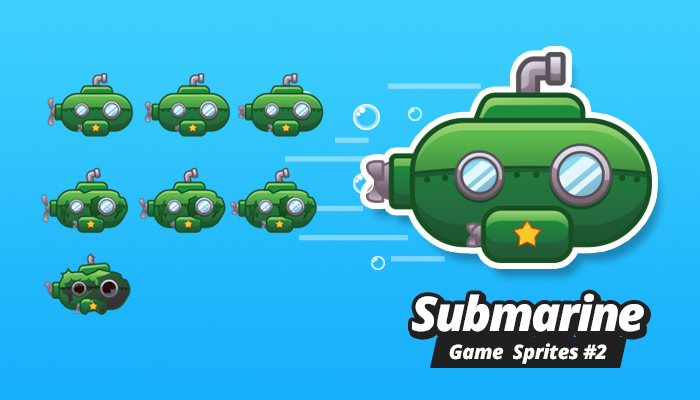 Submarine Game Sprites 2