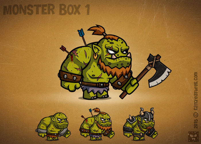 Monster Cartoon RPG Characters 1