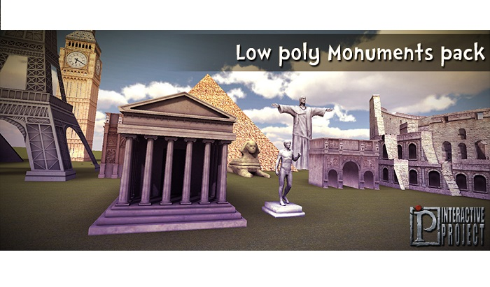 Monuments Pack low poly