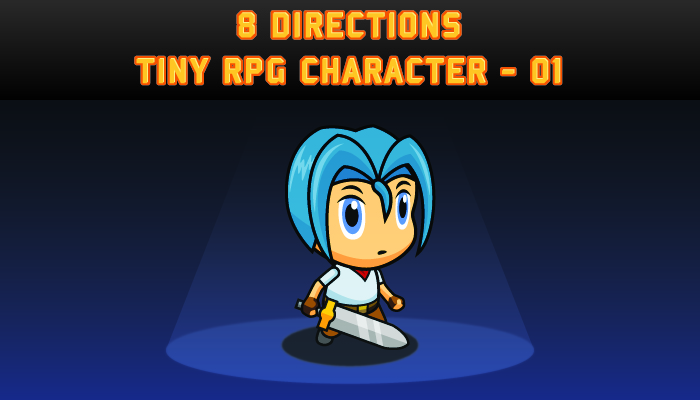 AFR 8 Directions Tiny RPG Character – 01
