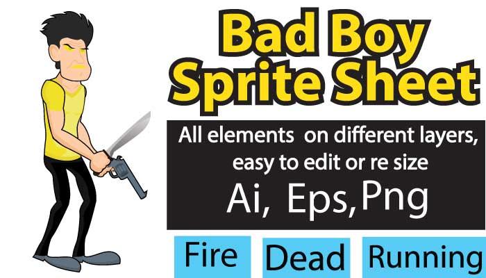 Bad Boy Sprite Sheet