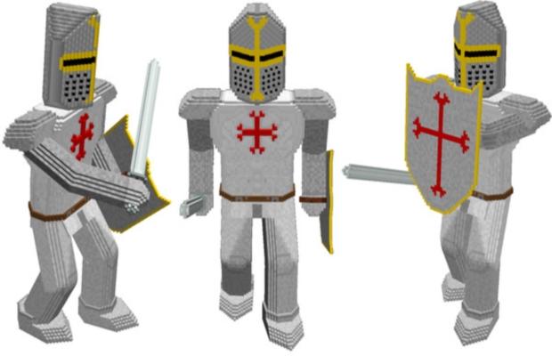 Voxel templar knight