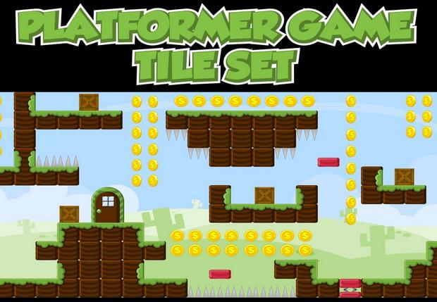 Platformer Game Tileset 1