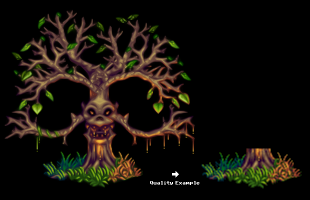 Pixel Art – Evil Tree