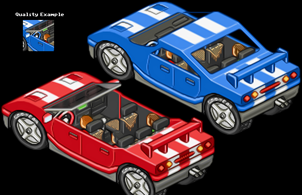 Pixel Cars in Isometric