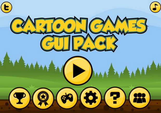 Cartoon Games GUI Pack 1