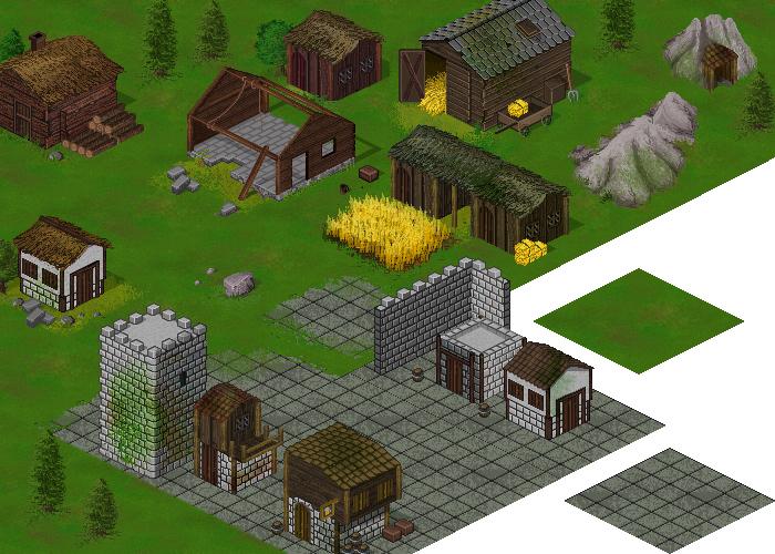 Isometric RPG buildings Set