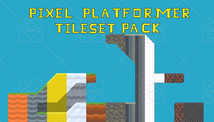 Pixel Platformer Tileset Pack