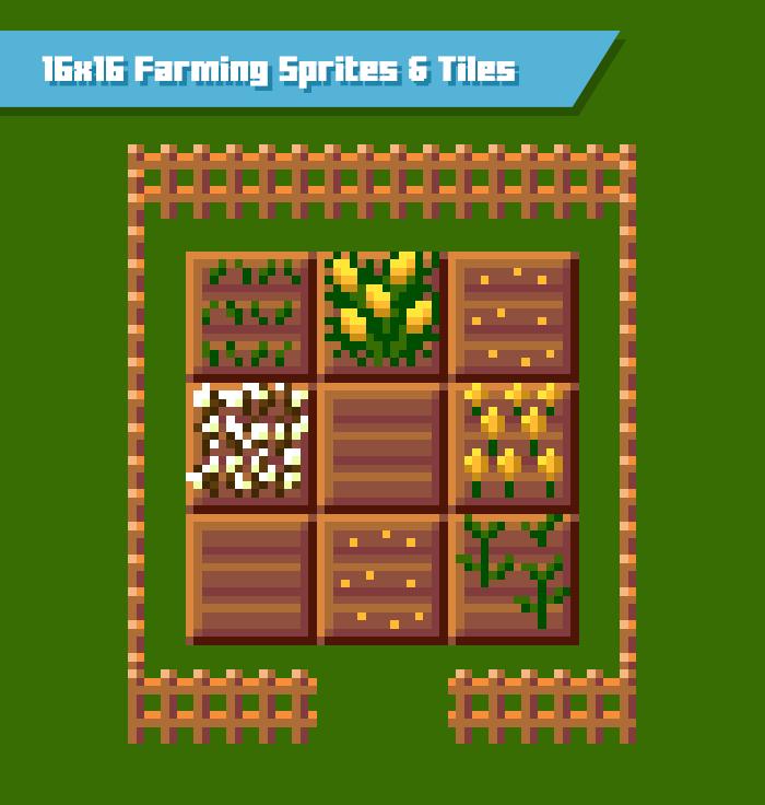 16×16 Farming Sprites and Tiles