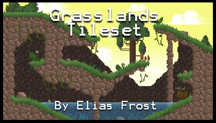 16-bit Tileset – Grasslands