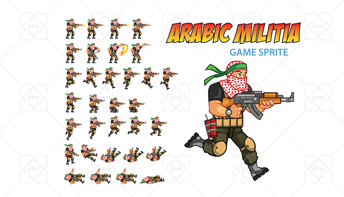 Arabic Militia Game Sprite