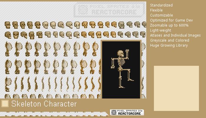 PSRC: Skeleton Character