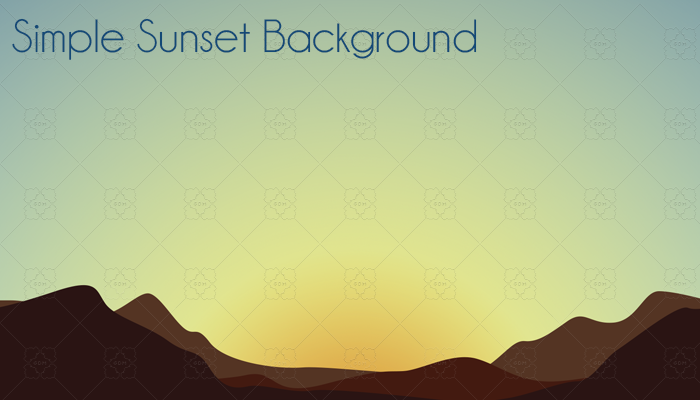 Simple Sunset Background