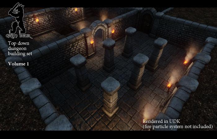 Grim Bear top down dungeon building set – Volume 1